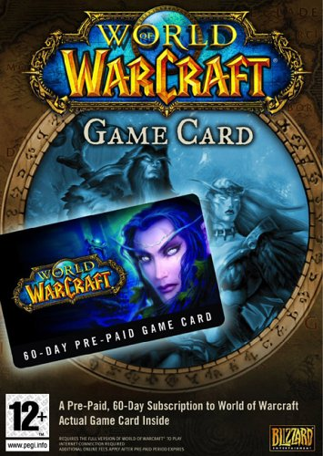 World of Warcraft 60 Day Game Card